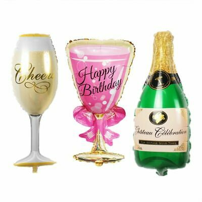 Foil Balloon Beer Birthday Summer Party Decorations Champagne Cup Bottle 2Pcs