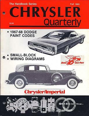 brand new chrysler quarterly fall 1989 imperial 1967 1968 dodge charger  mopar rt