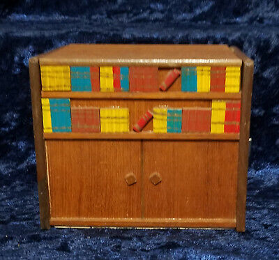 Vintage Handmade Wood Cigarette Box Wooden Musical Tobacco Holder ( Very Rare )