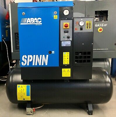ABAC Spinn.E 5.510 270 Receiver Mounted Rotary Screw Compressor, With Dryer!