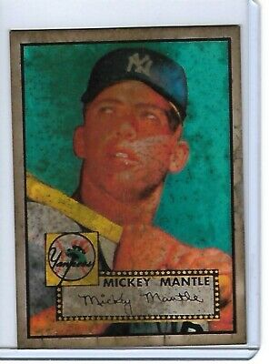 1952 Topps Mickey Mantle New York Yankees 311 Baseball Card Ungraded Unknown