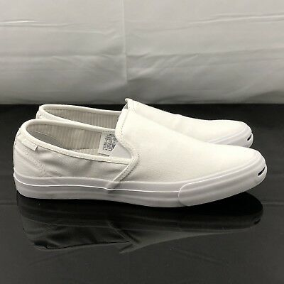 05cd5c76bd43 Converse Jack Purcell II Slip On White Shoes Size Mens 7 148635C WMN 8.5
