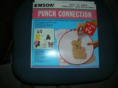New Emson Punch Loop Embroidery Connection Yarn Sculpture Craft Kit