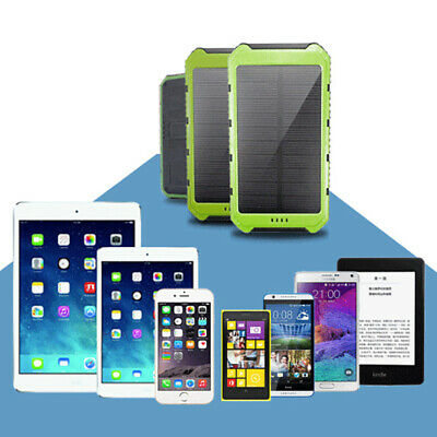 Solar Power Portable Dual USB Port Charger Waterproof Case Cover For Power Bank