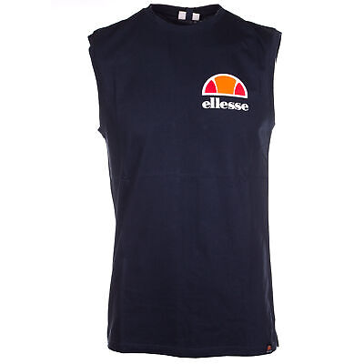366c35094c5a Ellesse Heritage Beached Mens Retro Fashion Vest Tank Singlet Navy Blue - M