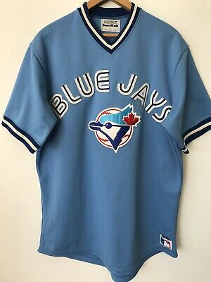 watch ca7b2 a8b32 VTG 70S AUTHENTIC Toronto Blue Jays Baseball Jersey Size 46 Medalist Sand  Knit