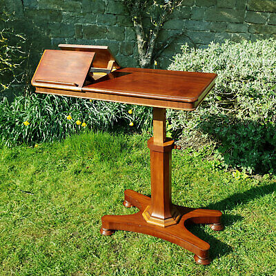 William IV Mahogany Adjustable Reading Table / Console Table C1830