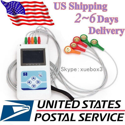 Hot ECG 3 Channel Holter ECG System+PC software 24 hours recorder TLC9803 CONTE