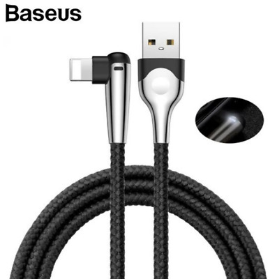 Baseus USB Lightning Cable for iphone XS XR 8 7 7P 6 Fast Charging 1.5A 2M Black