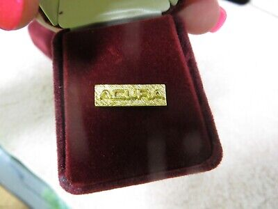 Vintage Acura Gold-tone Lapel Pin Tie Tack - New Old Stock