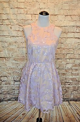 678b2ce6 Modcloth Windflower Waltz Violet NWOT M sequin purple A-line floral party  dress