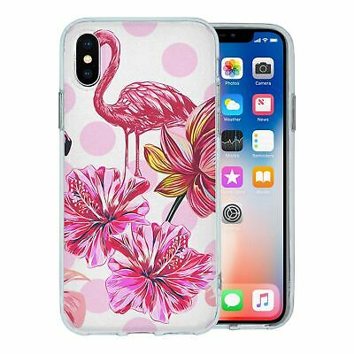 Pour Apple Iphone XS Étui en Silicone Flamant Rose Tropical Motif - S5638