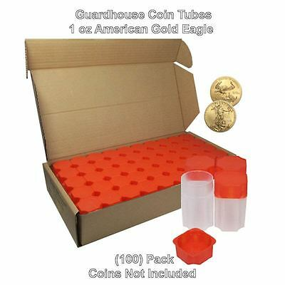 American Gold Eagle 1oz, Square Coin Tubes by Guardhouse 50 pack