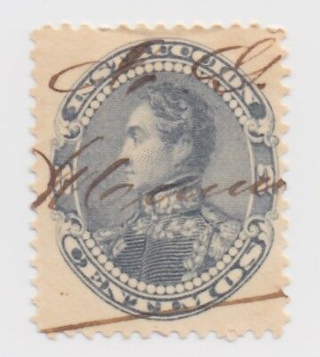 1893 Venezuela - Simon Bolivar - Instruccion - Inland Post - 5 C Stamp