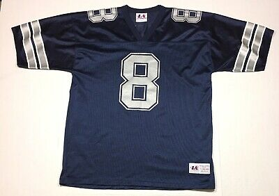 2aee769f5 Vintage 90's Troy Aikman Dallas Cowboys Logo Athletic Football Jersey Large