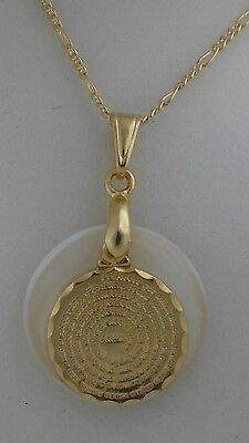 "Our Father pendant with 20"" chain gold plated/Padre Nuestro dije y cadena"