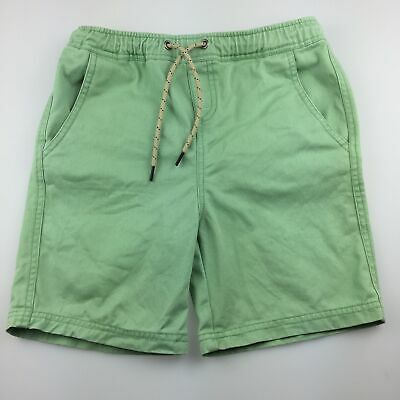 Boys size 9-10, Seed, green cotton shorts, elasticated, GUC