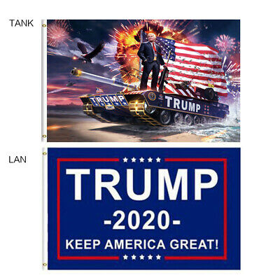 3 x 5 FT Trump Flag 2020 - Keep America Great - Elect Donald For USA President