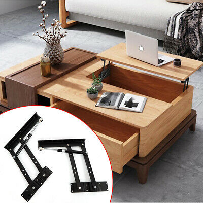 Furniture Frames 1pair 14cm Lifting Height Lift Up Coffee Table Desk Furniture Gas Hydraulic Hinge Without Return Furniture Parts