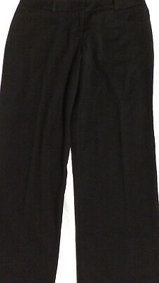 6f2bfe2a2 MANGO WOMEN'S STRAIGHT Leg Slack Pants - Black Stretch Slim Fit ...