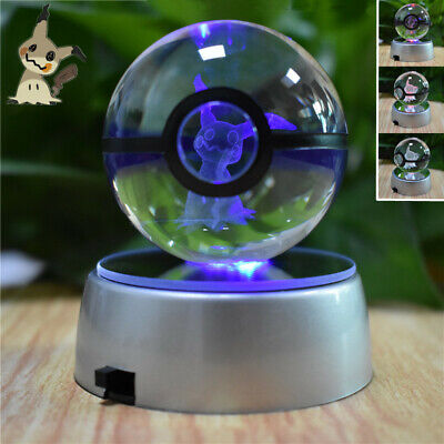 Pokemon Light Charizard Crystal Ball 3d Pikachu Night Led Pokeball c4A35jSRqL