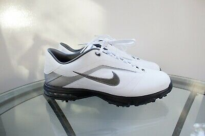 Details about Nike Air Academy golf shoes soft spike cleats white leather 379224 191