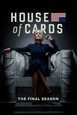 House Of Cards Season 6 Dvd Final Series Brand New & Sealed + Free Priority Post