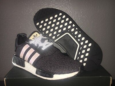 9c5faaffd New Adidas NMD R1 Boost 3M Reflective Core Black Wool Sz 7.5 BW0617 QS DS