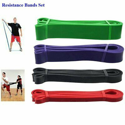 Resistance Elastic Band Pull Up Training Loop Power Gym Fitness Yoga Exercise AU