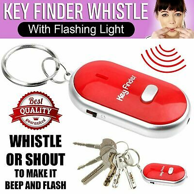 New LOST CAR KEY FINDER LOCATOR WITH LED LIGHT JUST WHISTLE KEY RING