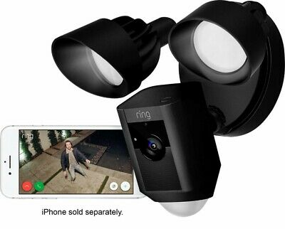 Ring Floodlight Camera Motion-Activated 1080P Security Cam w/ Siren, 2-Way Talk