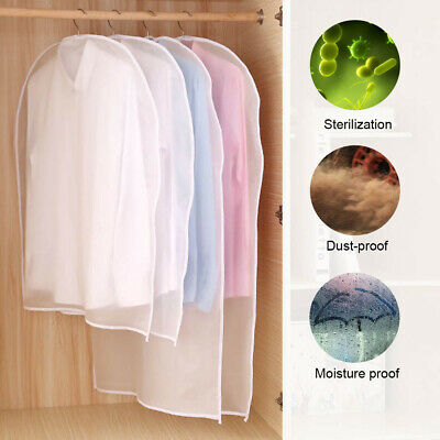 Clear Dust-proof Dress Clothes Cover Suit Dress Garment Bag Storage Protector JF