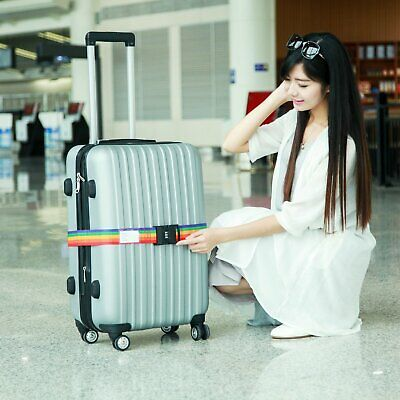 ColorfuL Password Travel Luggage Suitcase Secure Lock Safe Packing Belt Strap UU