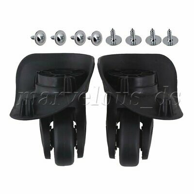 2x Luggage 360 Spinner Wheel Replacement Black Suitcase Swivel Caster/Repair Kit