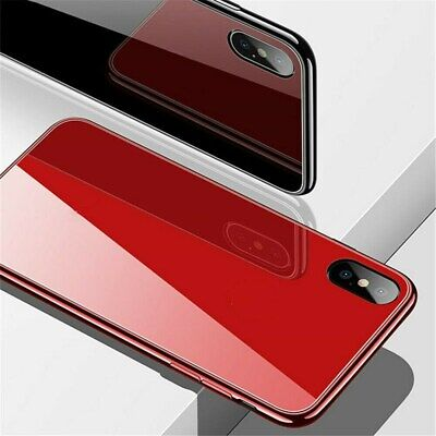 Tempered Glass Hard Phone Case For iPhone Xs Max XR X 7 8 6s Plus Plating Cover
