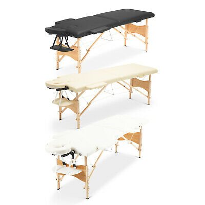 Portable Folding Massage Table Lightweight Beauty Salon Bed 2 Section Wooden