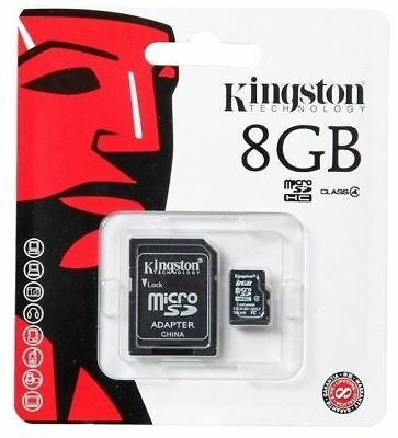 Kingston 8GB Micro SD SDHC Memory Card Mobile Phone Class 4 With SD ADAPTER