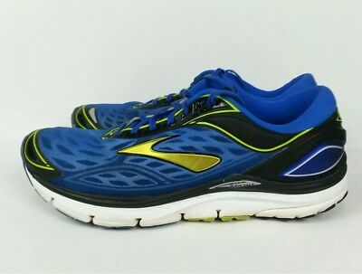 new concept 83fb6 5e398 BROOKS TRANSCEND 3 Men's Size 12 D Blue Running Walking Training Athletic  Shoes