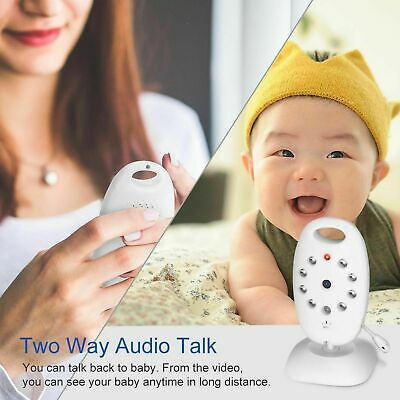 2 Baby Monitor 2.4GHz Color LCD Wireless Audio Talk Digital Night Vision Video