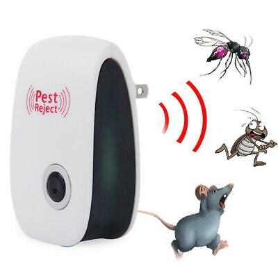 Electronic Ultrasonic Pest Repeller Reject Bug Mosquito Cockroach Mouse Killer