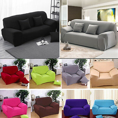 Modern 1/2/3/4 Seater Elastic Stretch Sofa Slipcover Protector Soft Couch Cover