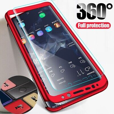 For Samsung Note 9 S9 Plus S9 360º Full Body Shockproof PC Ultra Thin Case Cover