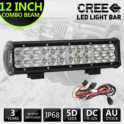 12 inch 240W CREE Combo LED Light Bar + 2.5m LED Light Wiring Harness with 1lead
