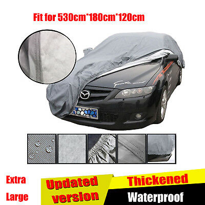 2 Layer Extra Large Heavy Duty Waterproof Car Cover Cotton Lining Scratch Proof