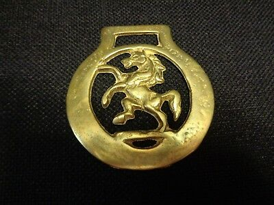 Vintage English Horse Brass, Horse with Smooth border