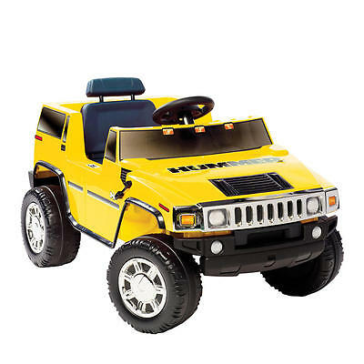 Kids Hummer H2 Childrens Yellow Ride On Car Jeep Truck Toys Battery