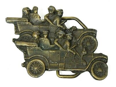 Vintage Workers in Classic Car Heavy Metal Instyle Prov PI 652 Belt Buckle