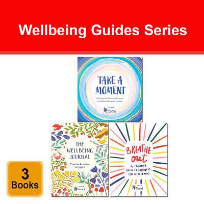 Wellbeing Guides 2 books collection set Take a Moment, Wellbeing Journal