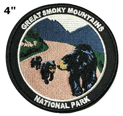 Great Smoky Mountains National Park Patch Travel Embroidered Iron or Sew-on