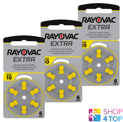 Rayovac Extra Advanced Size 10 Mf Pr70 Hearing Aid Batteries 1.45V Zinc Air